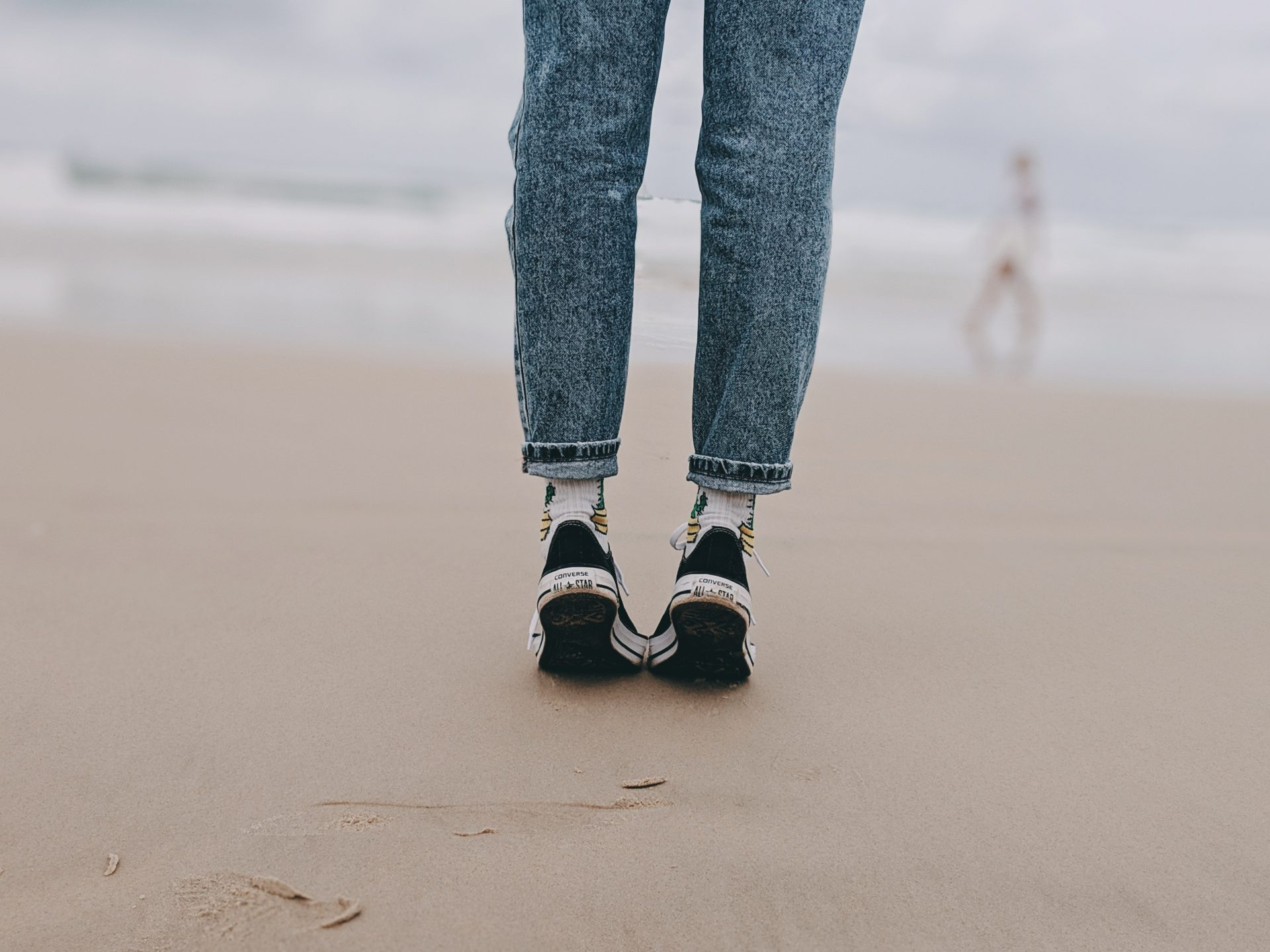 standing on tiptoes