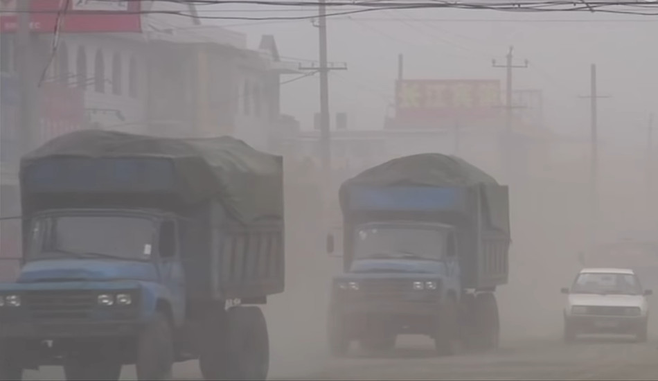 Pollution in the coal mining town of Linfen, Shanxi Province, China.