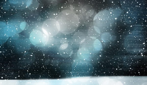 A wintry image depicting swirling snowflakes.