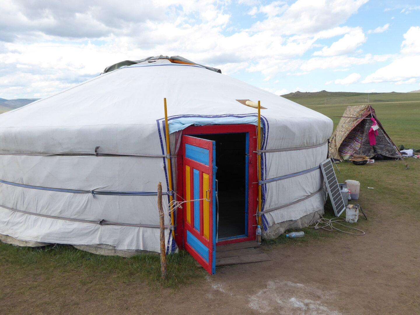 Present-day home in the Mongolian countryside, known as a ger (Mongolian) or yurt (Russian). (Credit: Christina Warinner)