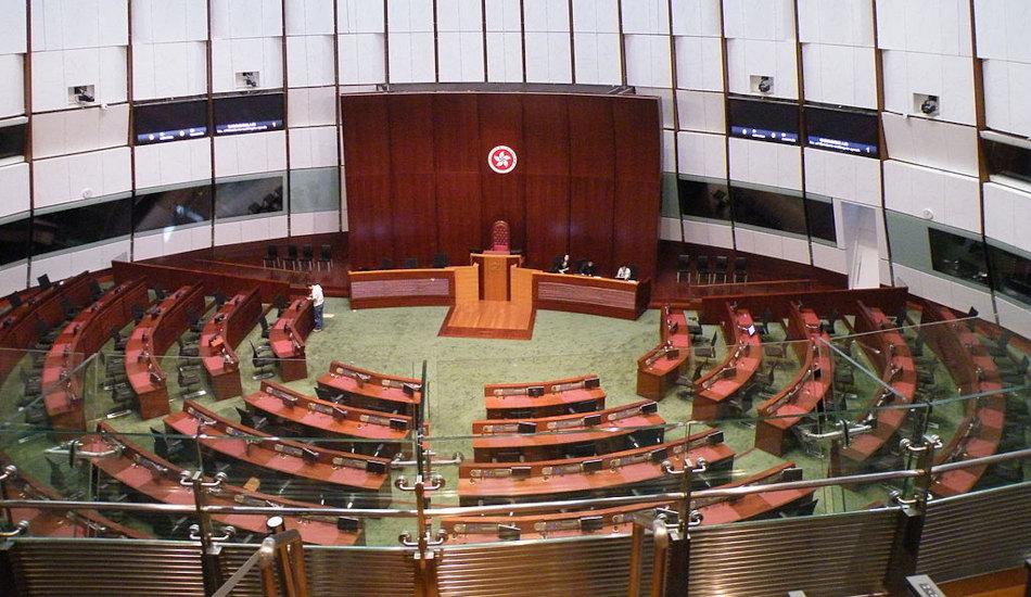 Interior of Hong Kong's Legislative Council complex.