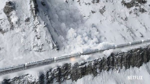 The train from the movie 'Snowpiercer'.
