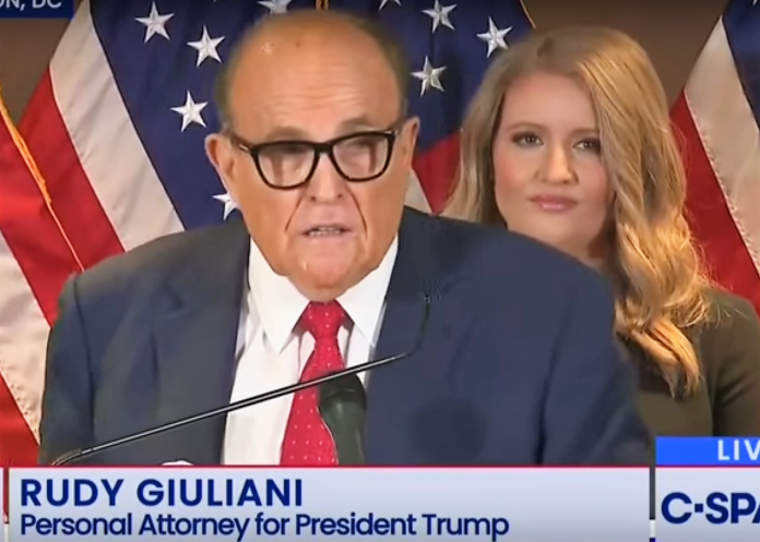 Rudy Giuliani gives press conference to describe election fraud in 2020 election