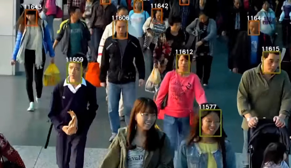 Chinese citizens tagged by a facial recognition system.