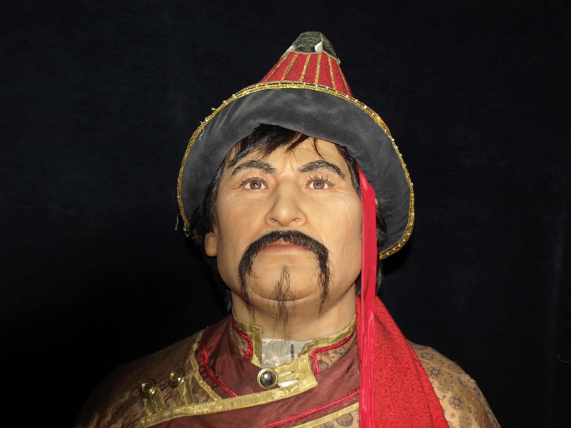 Genghis Khan wax figure