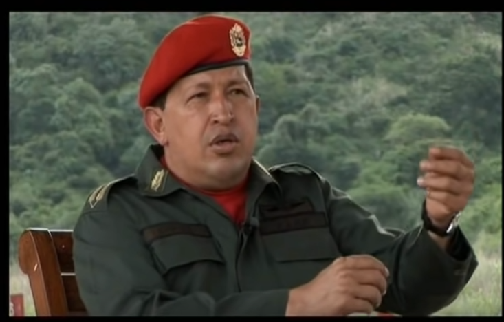 Venezuela's late dictator, Hugo Chavez, pictured in a 2010 documentary