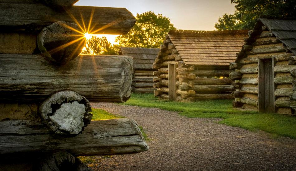 Wooden huts