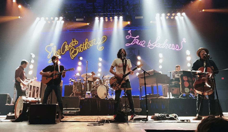 Photo of The Avett Brothers performing live.
