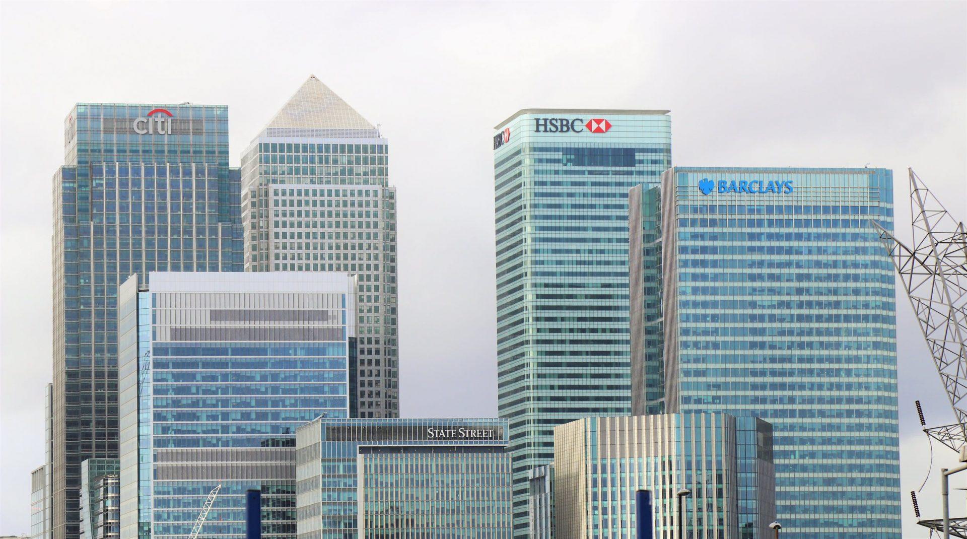 Skyline of Hong Kong banks