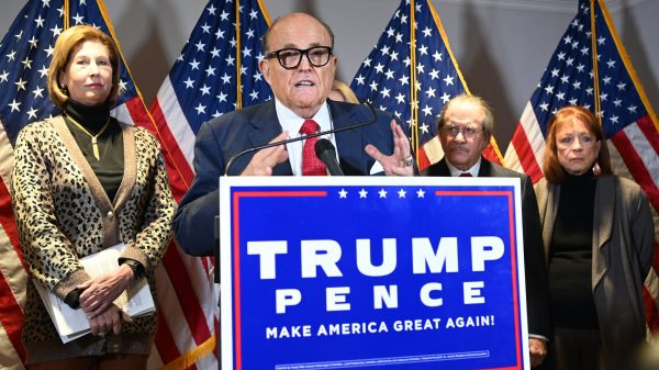 Trump's personal lawyer Rudy Giuliani speaks during a press conference at the Republican National Committee headquarters in Washington, DC, on November 19, 2020. (Image: MANDEL NGAN / AFP / via Getty Images)