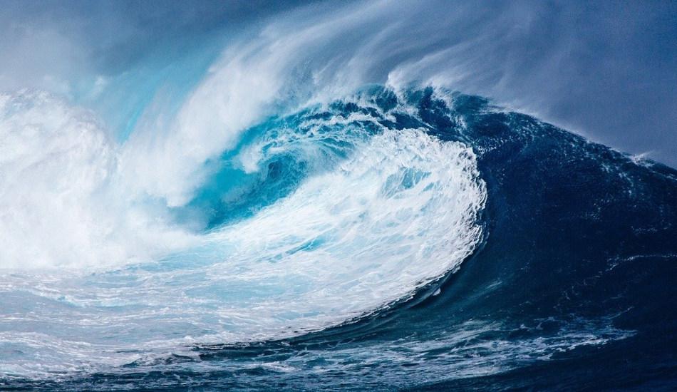 A huge ocean wave.
