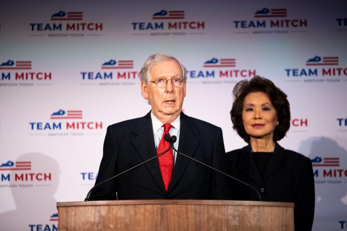 Mitch McConnell and Elaine Chao