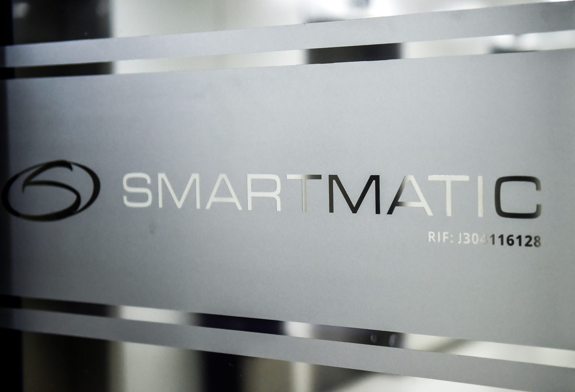 Logo of Smartmatic, the software used in Dominion voting machines. (Image: RONALDO SCHEMIDT/Getty Images via Getty Images