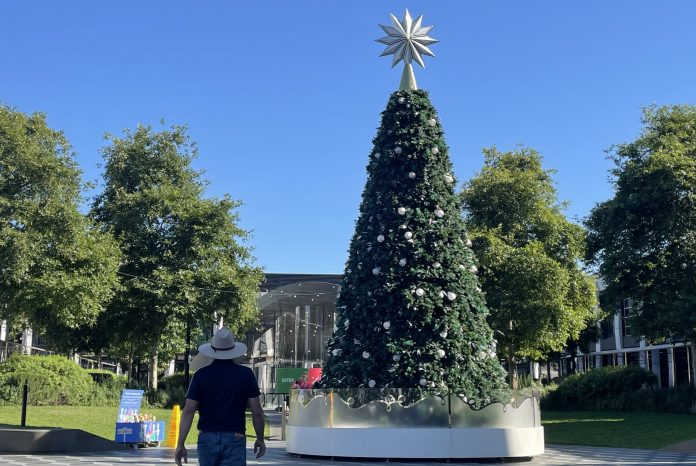 Christmas tree in Ringwood Town Square