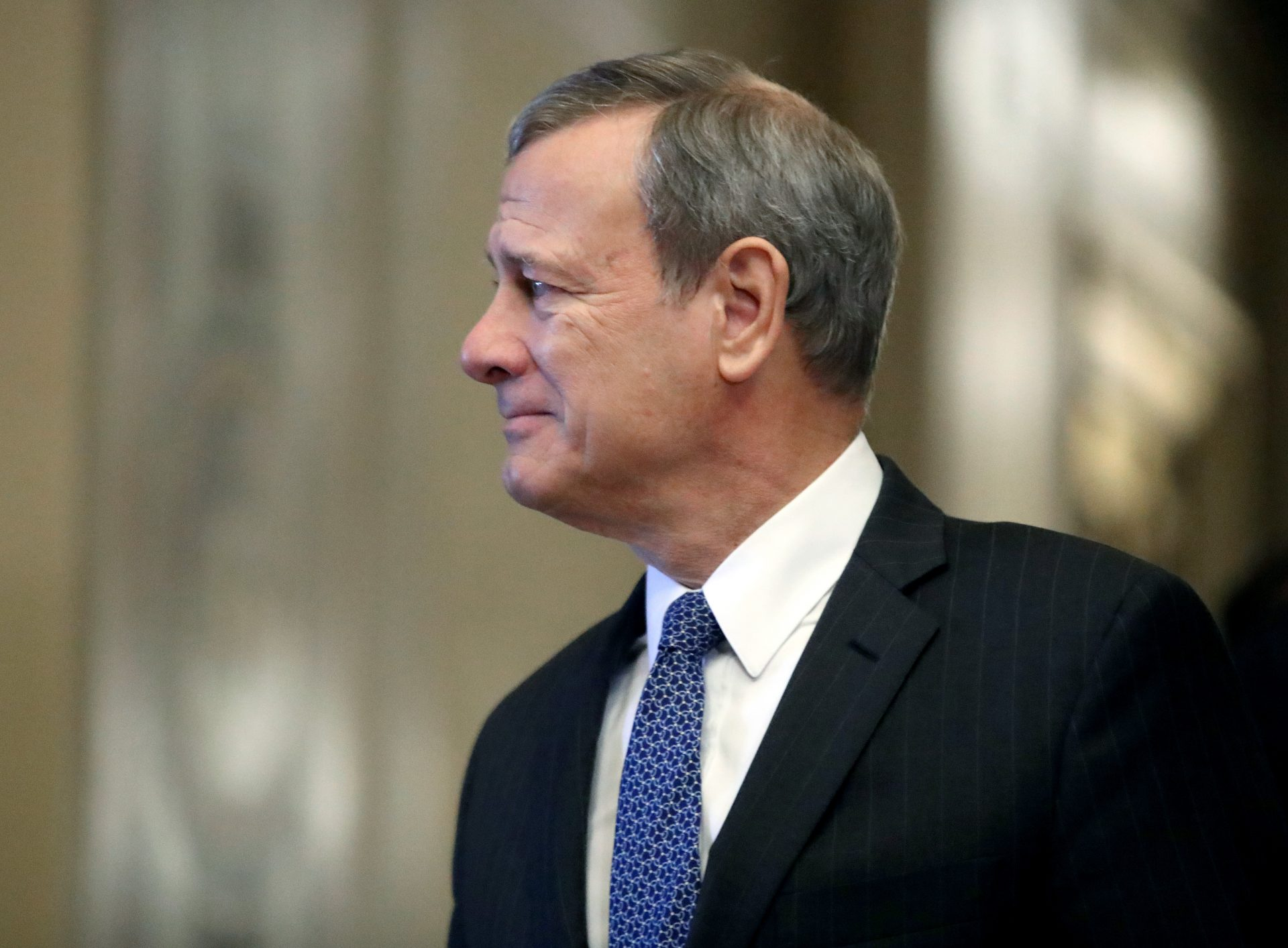U.S. Supreme Court Justice John Roberts arrives at the U.S. Capitol for the Senate impeachment trial of U.S. President Donald Trump, on January 31, 2020 in Washington, DC. Today Senators are expected to debate and then vote on whether to include additional witnesses and documents.
