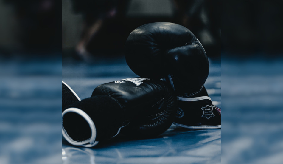 A pair of boxing gloves.