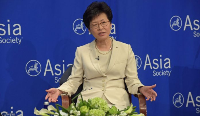 Carrie Lam, the Chief Executive of Hong Kong.