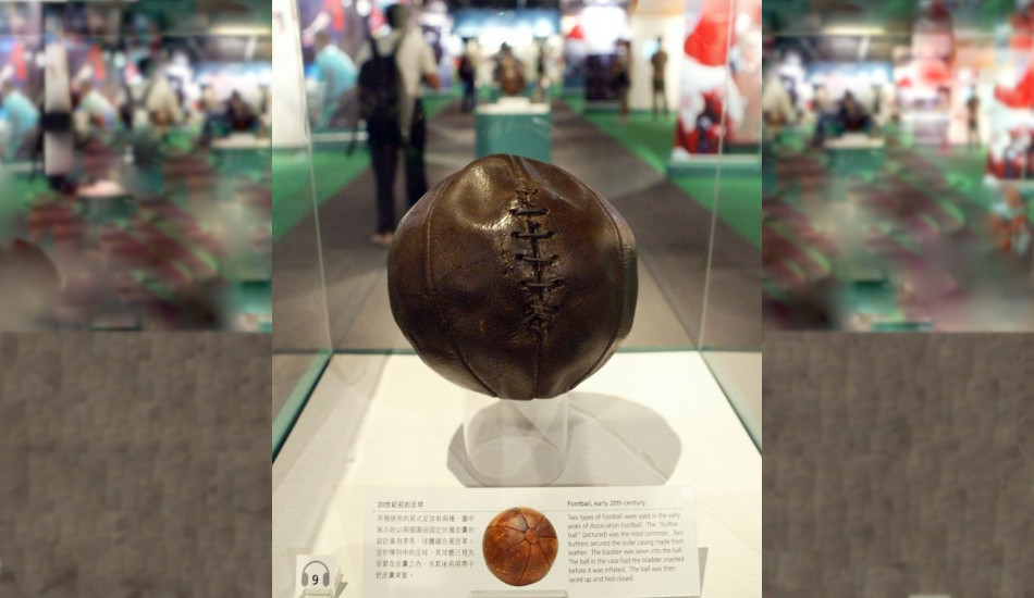 A replica of an ancient soccer ball.