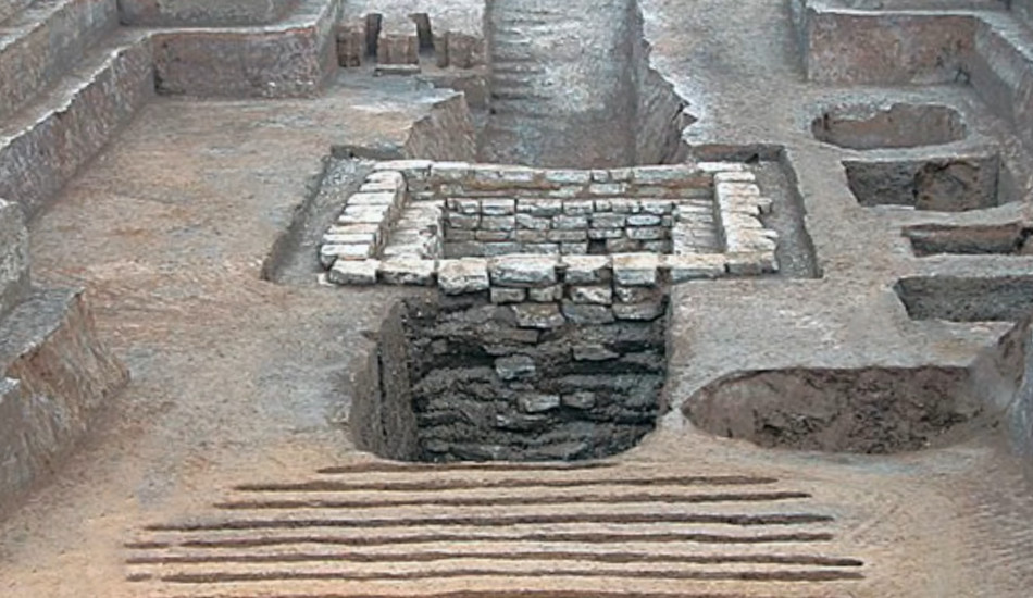 Archeological dig site in China.
