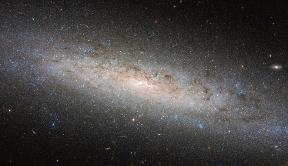 Picture of a spiral galaxy taken by NASA's Hubble telescope.
