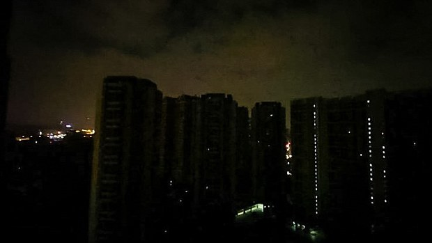 Blackout in Guang Dong