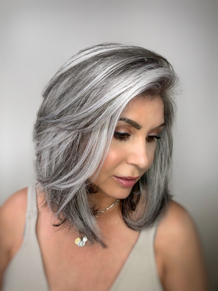 The hair colorist Jack Marti silver hair style revolution