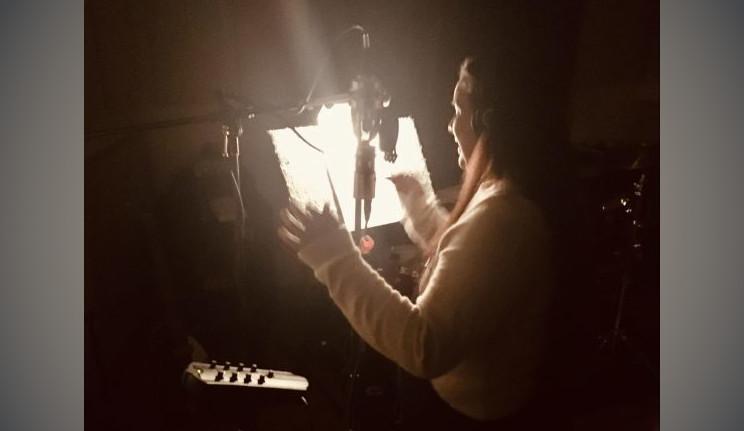 Mika in the recording studio.