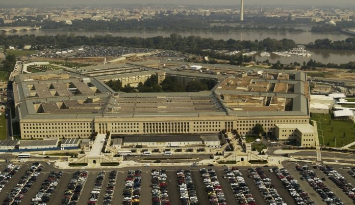 The Pentagon has removed 11 advisors from its Defense Policy Board. overhead view of the Pentagon outside Washington, D.C. trump administration