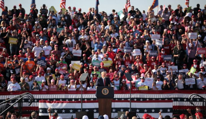 President Trump speaks at a rally