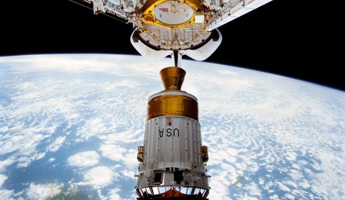 NASA's Tracking and Data Relay Satellite being placed in orbit.
