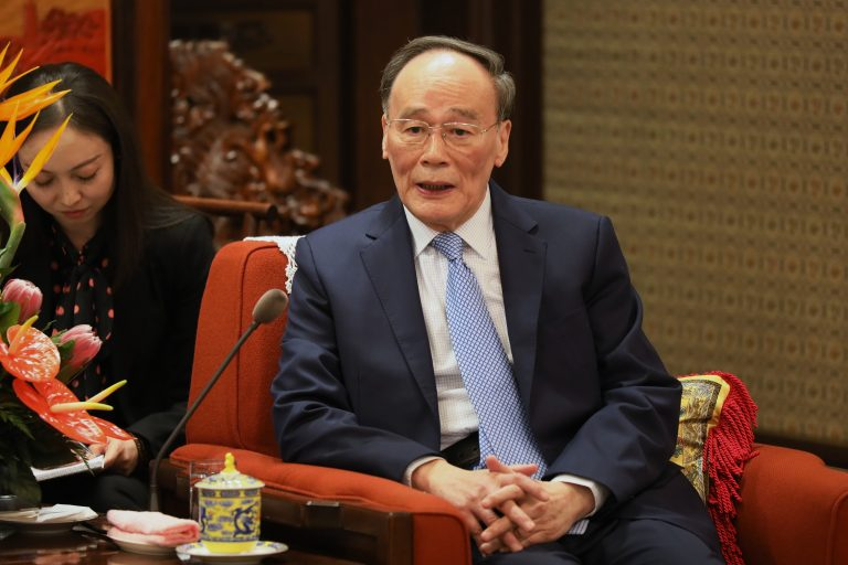 Chinese Vice President Wang Qishan in the Chinese Communist Party headquarters of Zhongnanhai on April 8, 2019, in Beijing. (Image: Kenzaburo Fukuhara - Pool/Getty Images)