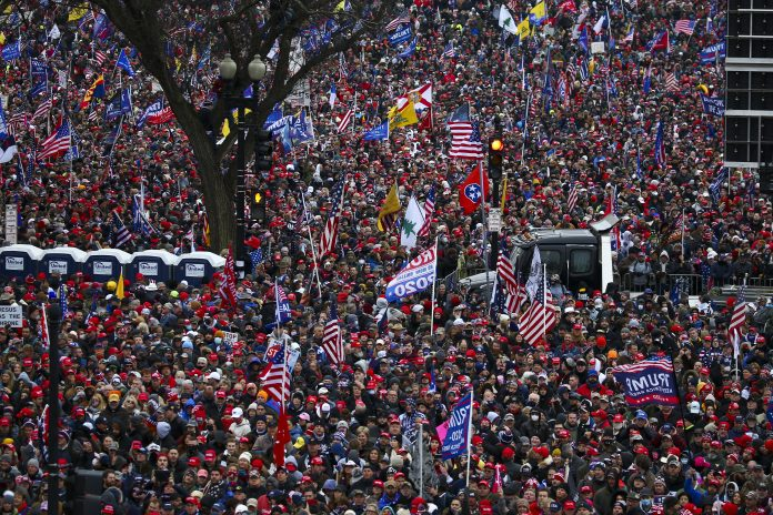 Huge Crowds gather for the