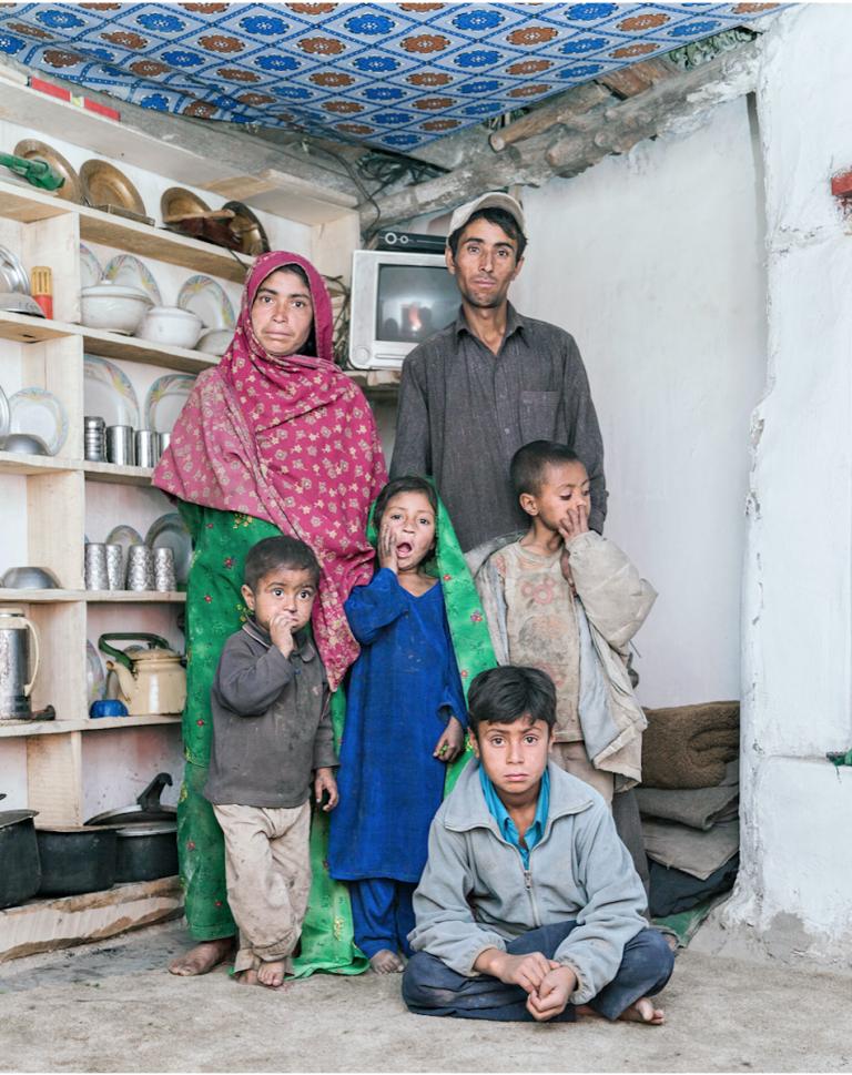 Gulam Nabi and his family in Hushe, Pakistan.