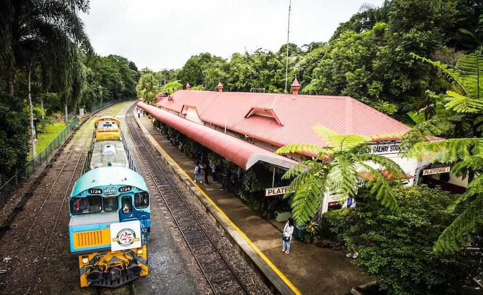 The iconic Kuranda train station in Kuranda, Queensland, Australia