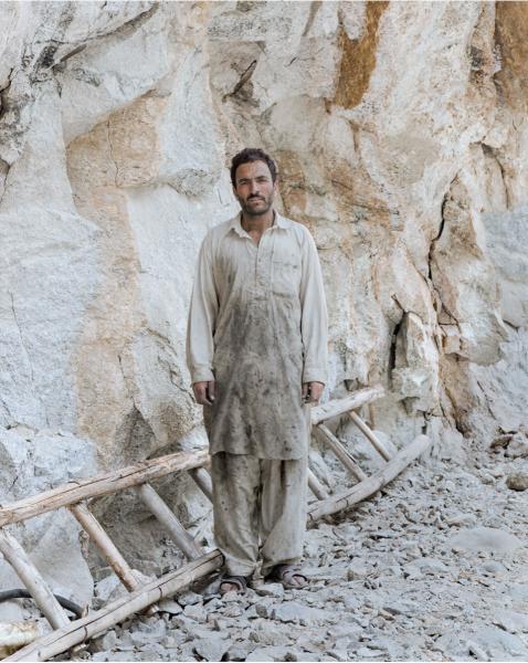 Miner Mohammed Ashraf in mine in Dassu, Pakistan.