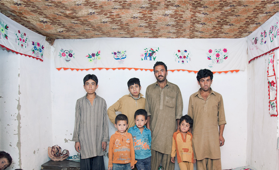 Miner Mohammed Ashraf with his eight sons in Dassu, Pakistan.