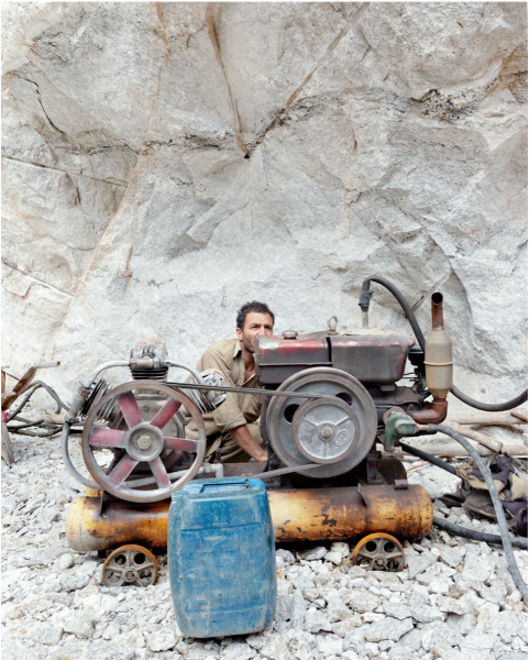 Miner Mohammed Ashraf works in the mine on the edge of one of Pakistan's national parks.