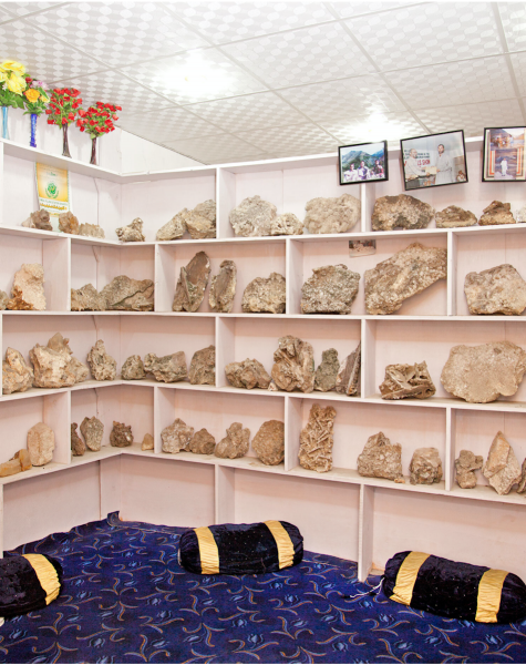 The largest of the gemstones are sold to foreign museums.