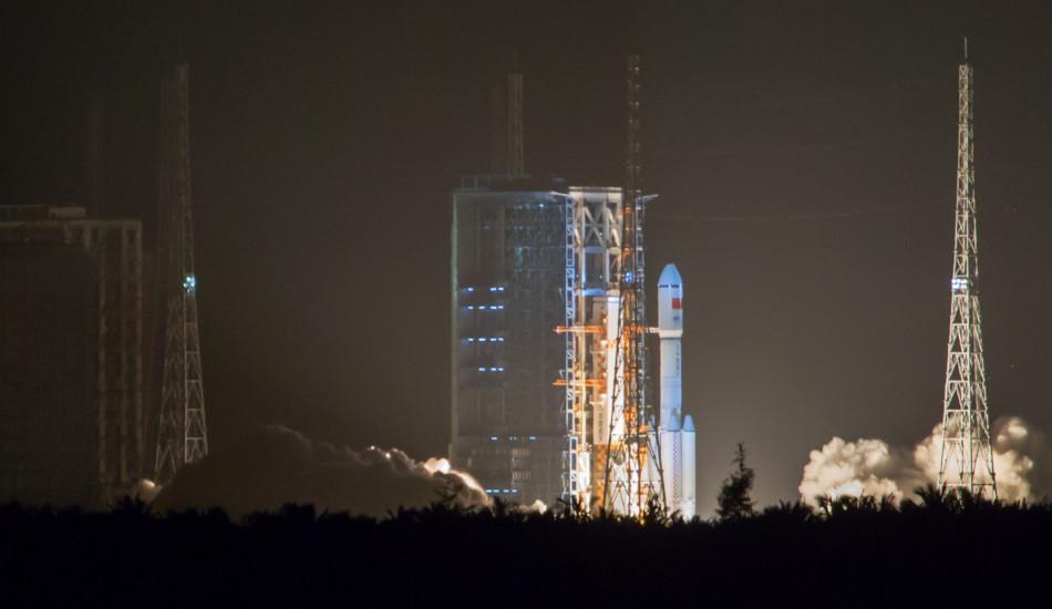 China's Changzheng rocket preparing for launch.