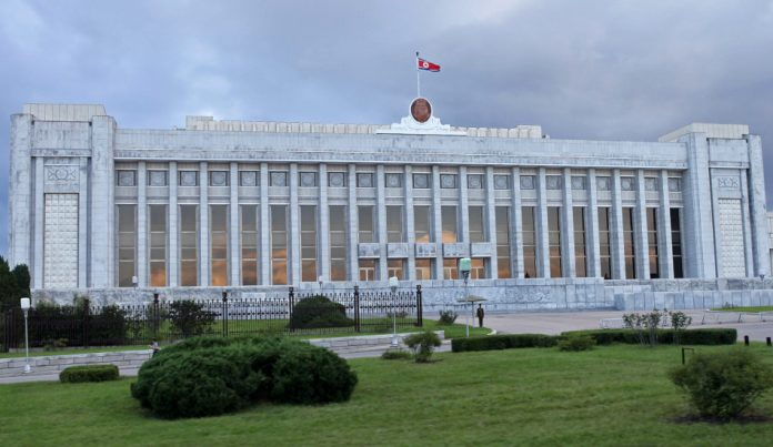 The Supreme People's Assembly Hall in North Korea.