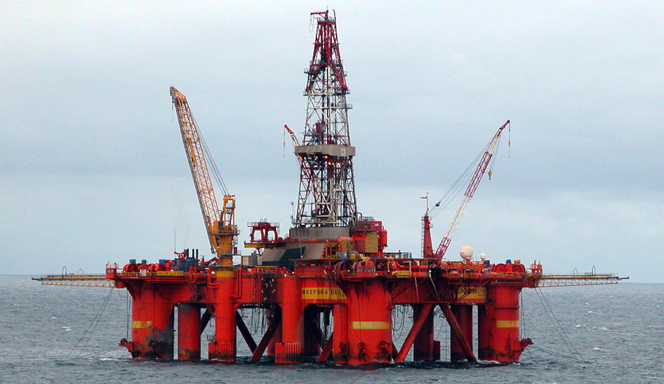 Deepsea oil drilling rig.
