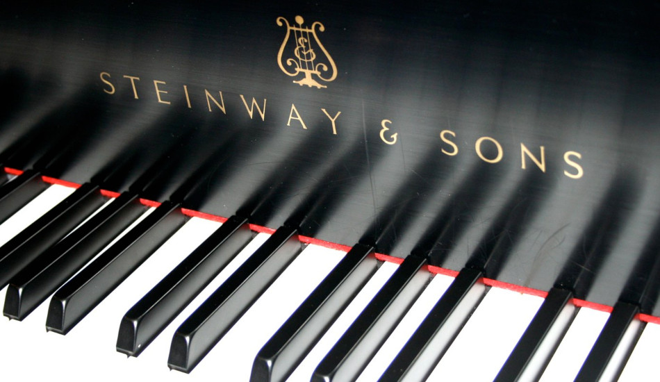 The keys on a Steinway piano.