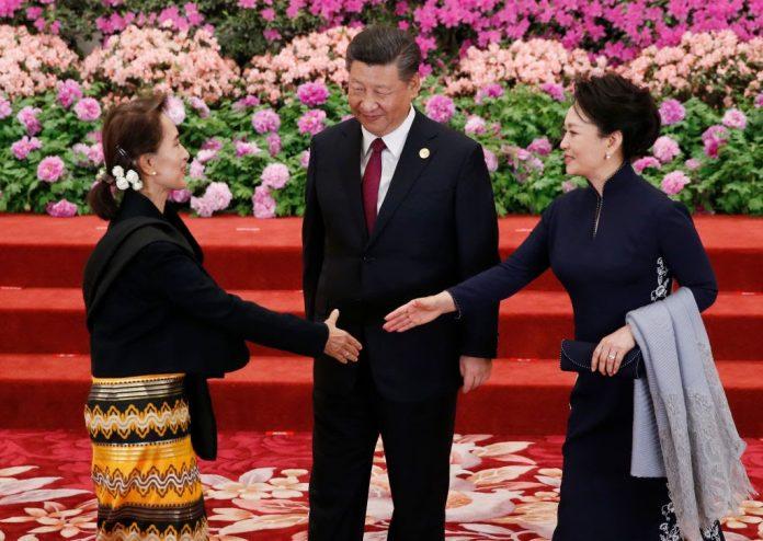 Aung-San-Suu-Kyi_Xi-Jinping_Peng-Liyuan_China-Burma-Myanmar