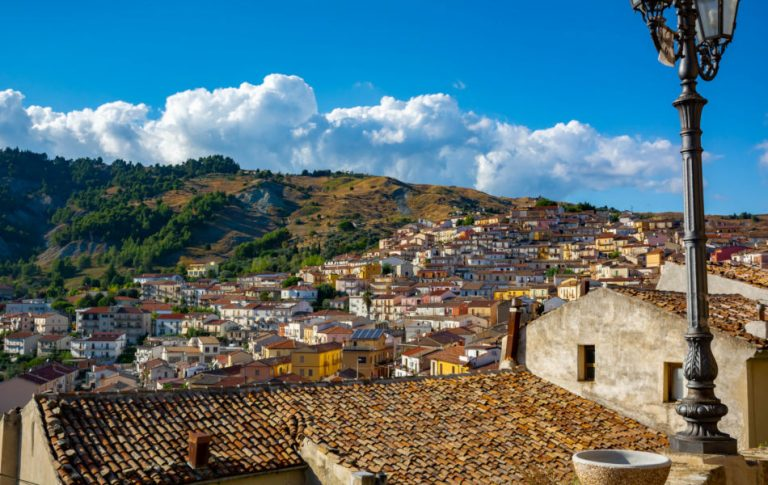 The Small Village of Oriolo, South of Italy.