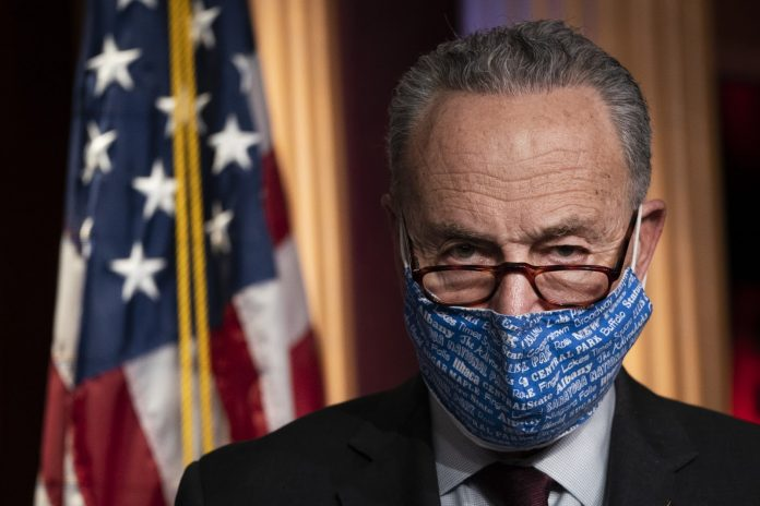 Senate Majority Leader Democrat Chuck Schumer said that he might support using the 14th Amendment to bar former President Trump from office.