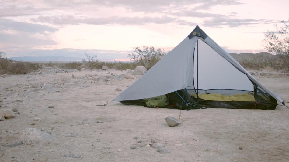 tent in desert