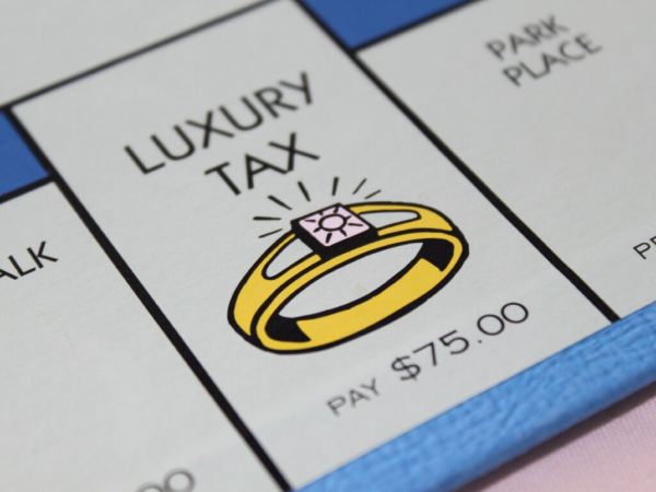 LuxuryTaxEngagementRingMonopolyBoardGame