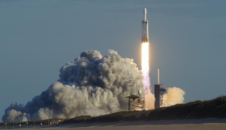 A rocket launches from Cape Canaveral, Florida.