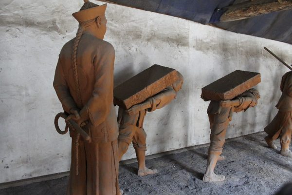 Qing-era depiction of forced labor at the Neixiang County Yamen Museum, Henan Province. China's autonomous region of Xinjiang has been in the spotlight since ongoing genocide against the Uyghur minority population has been widely acknowledged