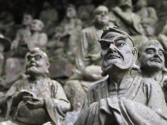 Statue Great ancient political philosophers and thinkers of China